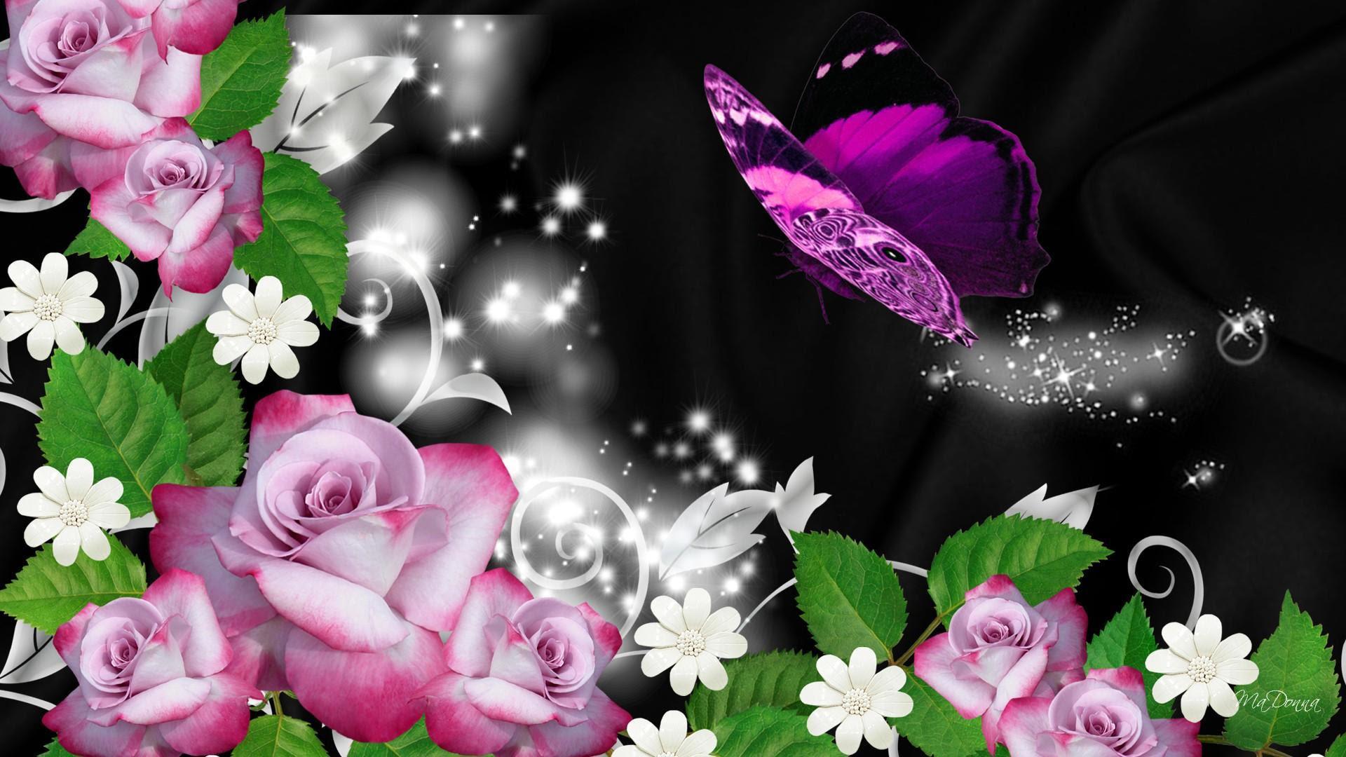 Sparkle Butterfly Trail HD desktop wallpaper : Widescreen ...