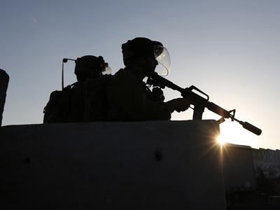 Soldados israelíes en Ramallah.