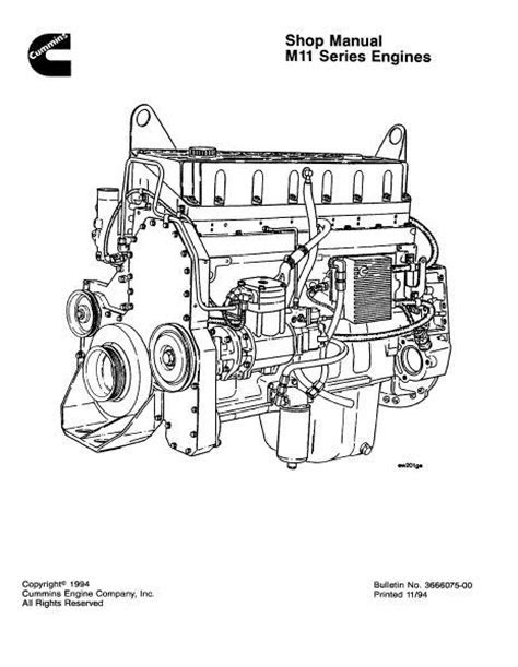 Cummins M11 specs, manuals and bolt tightening torques