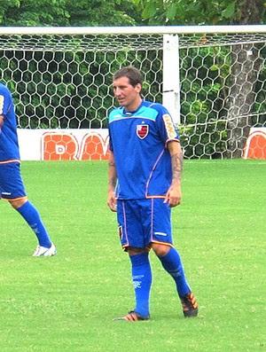 Bottinelli no treino do Flamengo (Foto: Janir Junior / GLOBOESPORTE.COM)