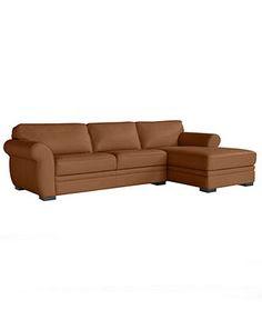 "Kayla Leather Sectional Sofa, 115""W x 62""D x 36""H -    Take a seat"