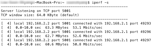 Test 6 - iPerf results
