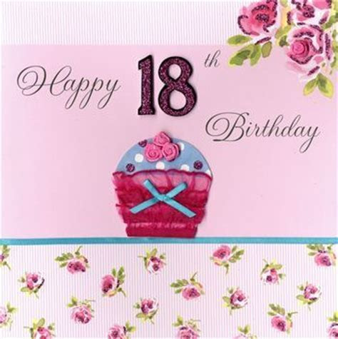 Hand Finished Cupcake 18th Birthday Card   Large, Luxury