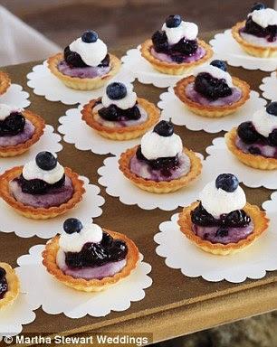 Amerikan klasiği: Konuklar Havyar & Charleston Muz tarafından blueberry cheesecake Tartlets zevk