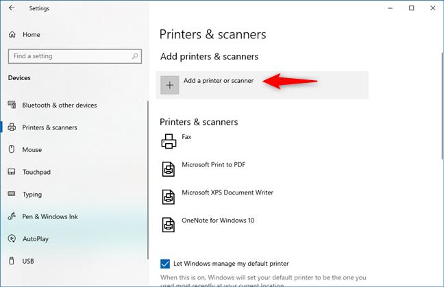 Agregar una impresora o un escáner