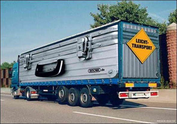 truck ad designs 08 in Funny 3D Truck Ad Designs