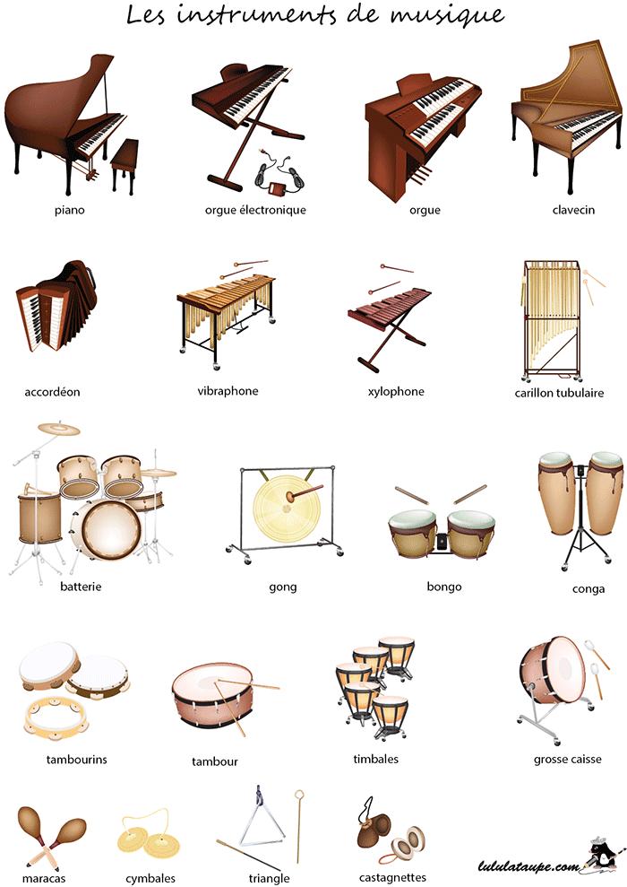 Instrumenty muzyczne - słownictwo 4 - Francuski przy kawie