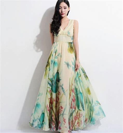 Floral Aline Maxi Dress Bohemian Wedding Bridesmaid by