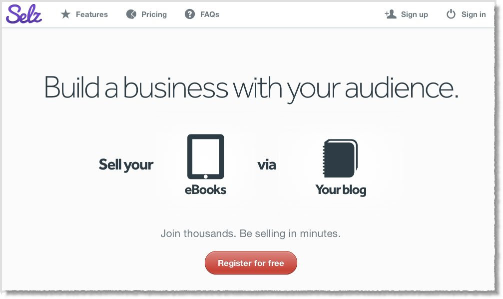 Sell your ebook on your blog with Selz.com