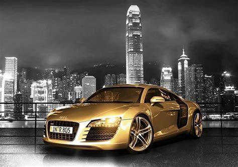 Gold Chrome Audi R8, the famous supercar   Car Tuning