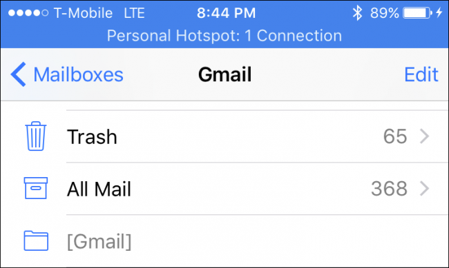 delete emails from iphone mailboxes
