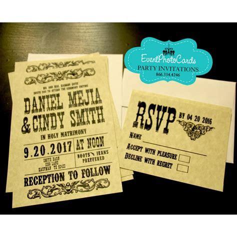 Wanted Poster Invitation & RSVP Set, Wedding Western