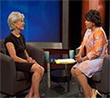 Photo of Secretary Sebelius interview.