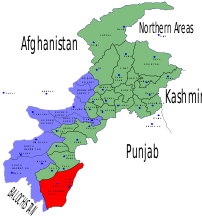 Location of Dera Ismail Khan District (highlighted in red) within the North West Frontier Province of Pakistan.
