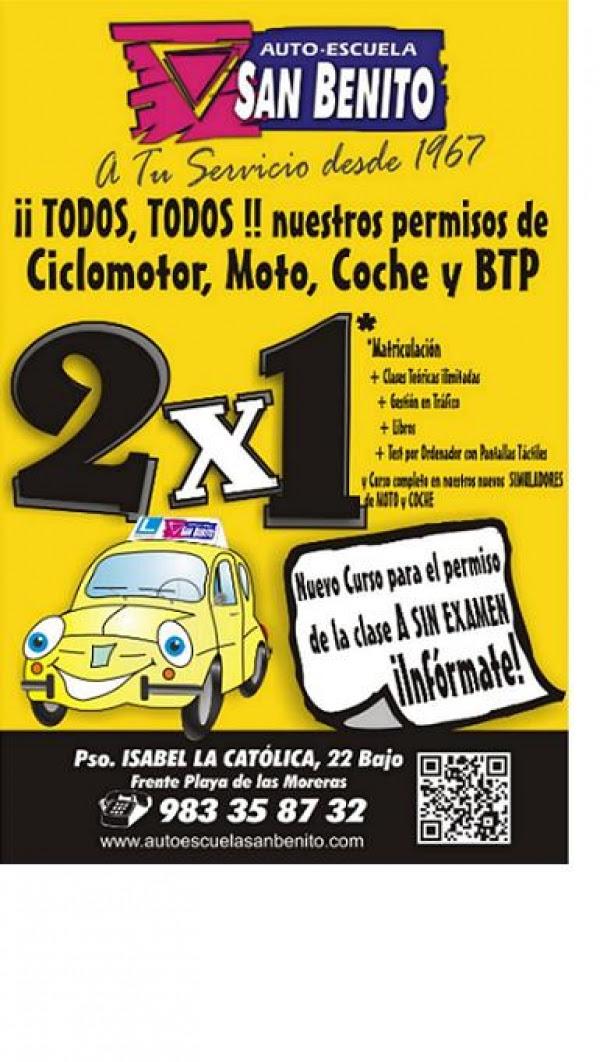 2 X 1 Autoescuela San Benito Valladolidautoescuela San Benito Valladolid