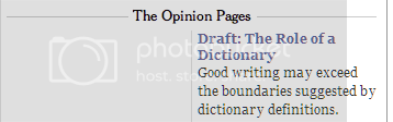 'Good writing may exceed the boundaries suggested by dictionary definitions.'