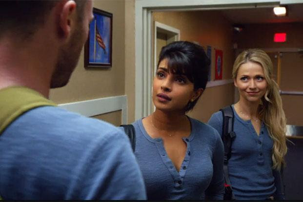 Priyanka Chopra (centre) in a still from 'Quantico'