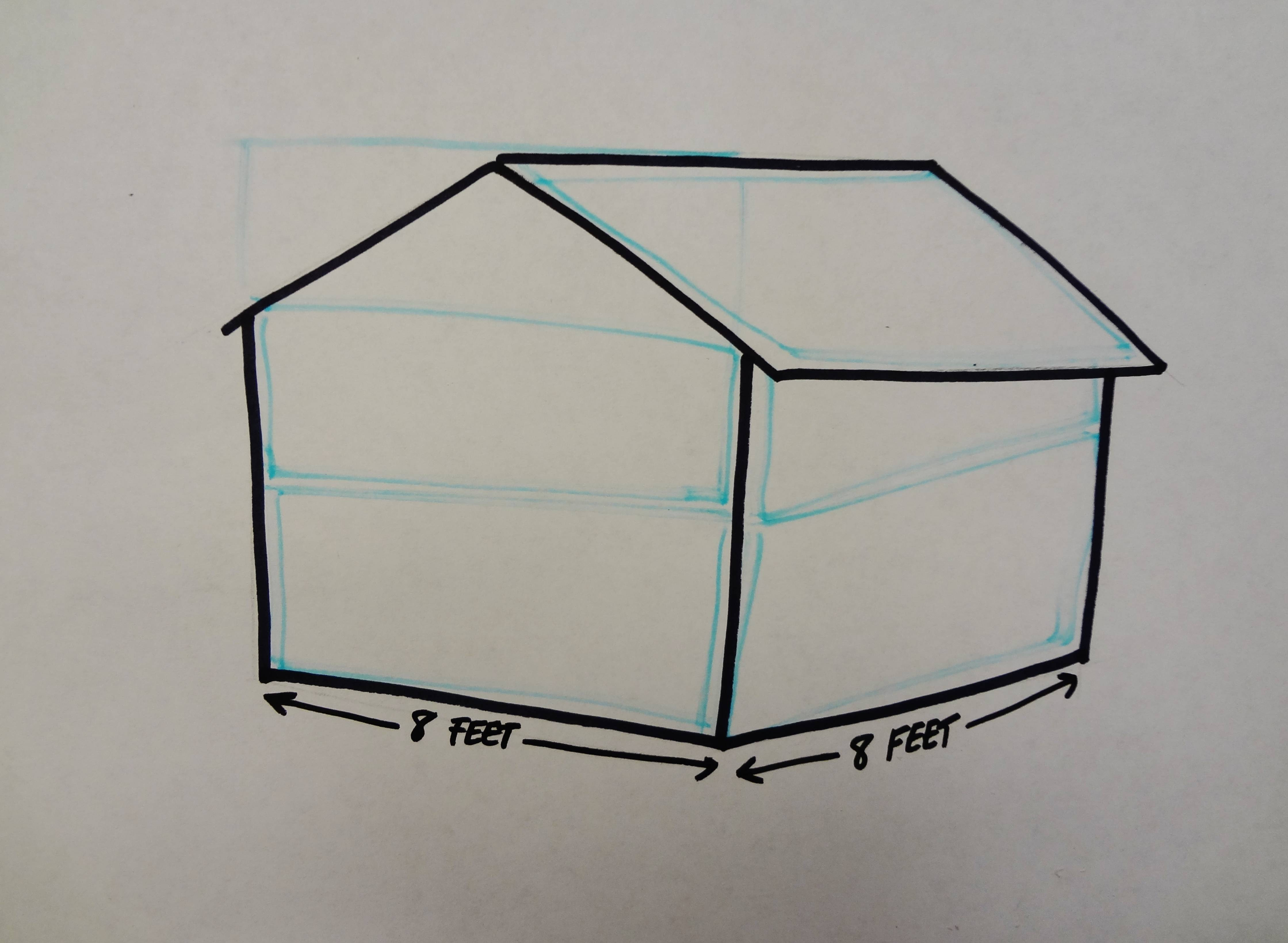 how do i calculate material needed to build 8x8 shed