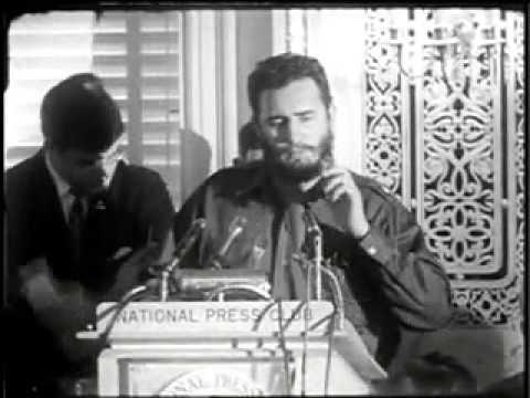 Fidel Castro en el Club Nacional de Prensa, en Washington. Foto: Revolución.