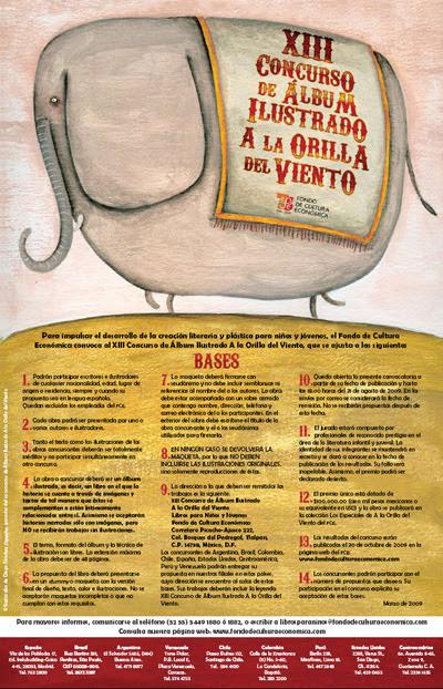 Afiche promocional del concurso a la orilla del viento del FCE, México, 2009