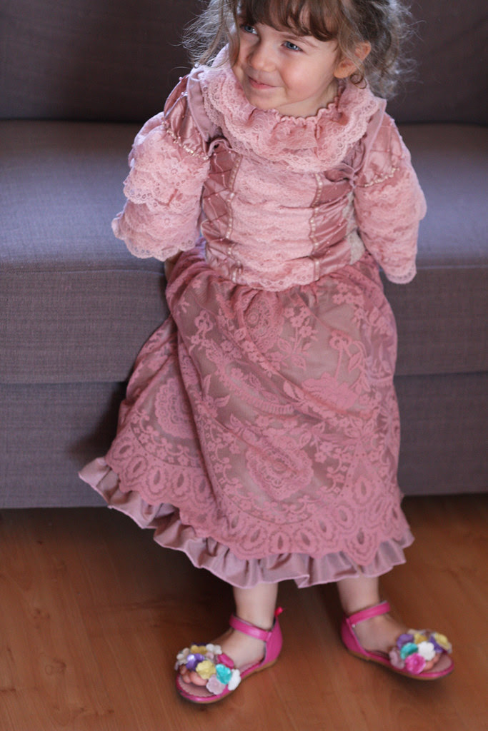 Pink royal pageant costume