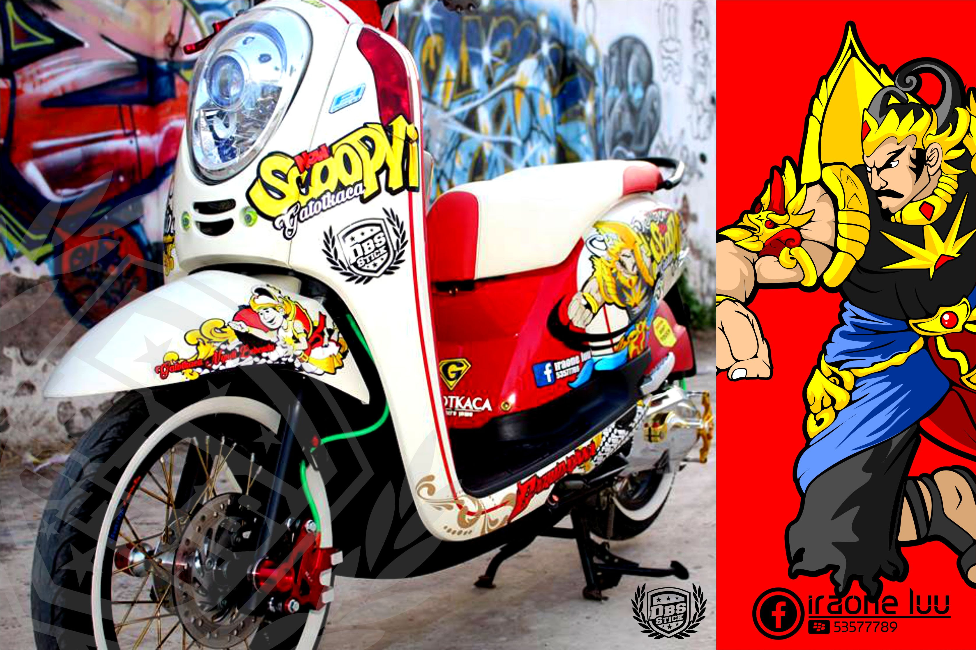 Contoh Gambar Cutting Sticker Motor Scoopy Fi Modif Sticker