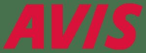 Logo of Avis (a rental car company).