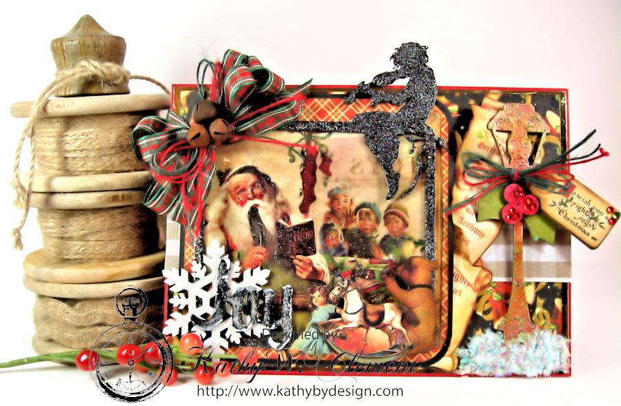 Christmas Emporium Easel card for Gypsy Soul Laser Cuts 02