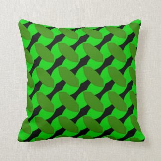 Leafy Green Design on Throw Pillow