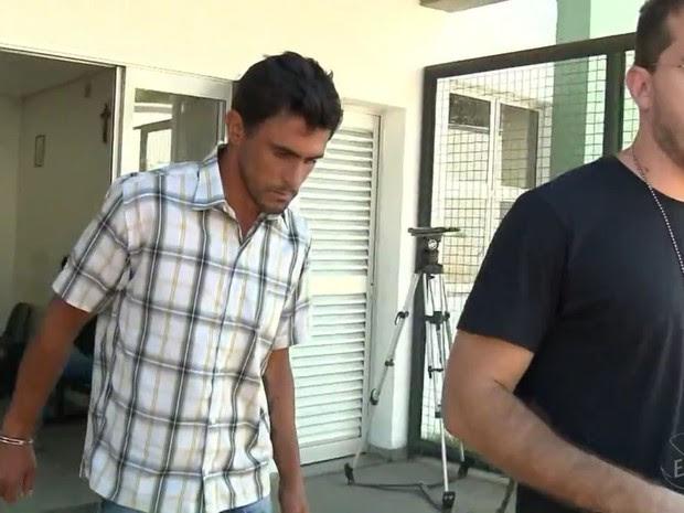 Homem confessou agressão e alegou arrependimento em Pouso Alegre (MG) (Foto: Reprodução EPTV/Edson de Oliveira)