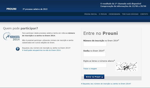 Comprovação de informações do Prouni 2015 vai até 29 de junho (Foto: Reprodução)