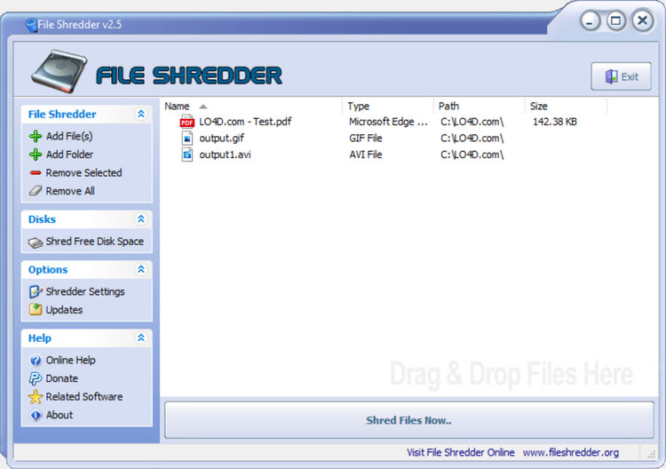 Free File Shredder Windows 7