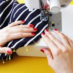 Sew the sleeves and side seams