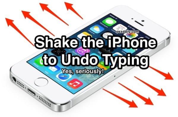shake-undo