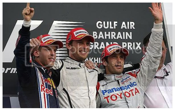 Podium GP Bahrein 2009