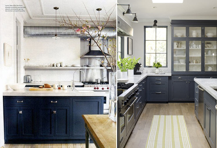 Navy Blue And White Kitchen Cabinets – Quicua