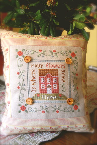 Cojin Rose cottage terminado