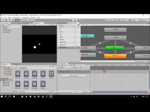Unity 5 Top Down Game Tutorial For Beginners #4 - Creating basic animations