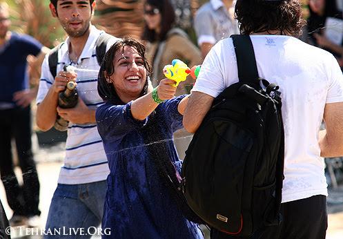 Water Guns War in Tehran