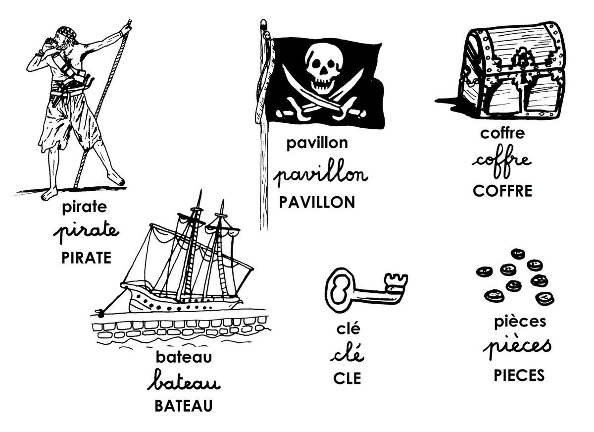 Piraci - słownictwo 7 - Francuski przy kawie