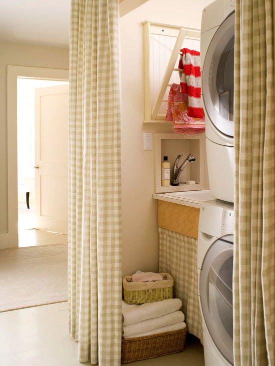 laundry closet washer dryer curtains