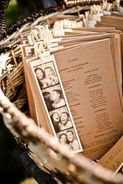 15 Non Traditional Wedding Programs   Rustic wedding