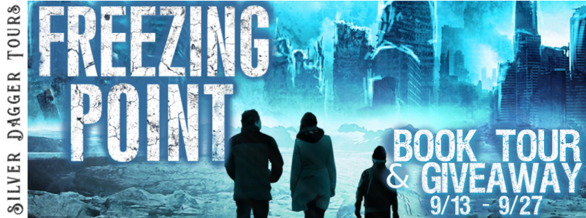 Book Tour Banner for  science fiction, post apocalyptic thriller Freezing Point by Grace Hamilton  with a Book Tour Giveaway