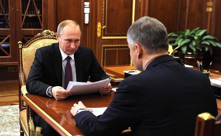 Спрезидентом ОАО «Российские железные дороги» Олегом Белозёровым.