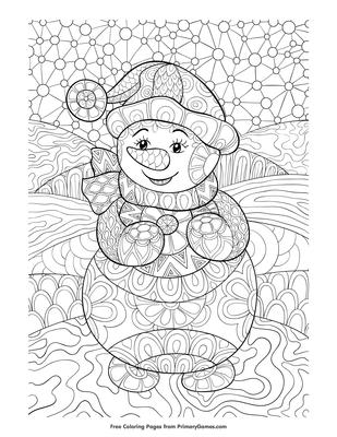 Winter Coloring Pages For Adults Pdf Berbagi Ilmu Belajar Bersama