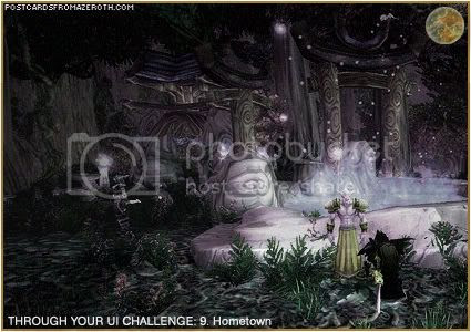 Postcards of Azeroth: Through Your Interface Challenge - Day 9 - Hometown, by Rioriel of theshatar.eu