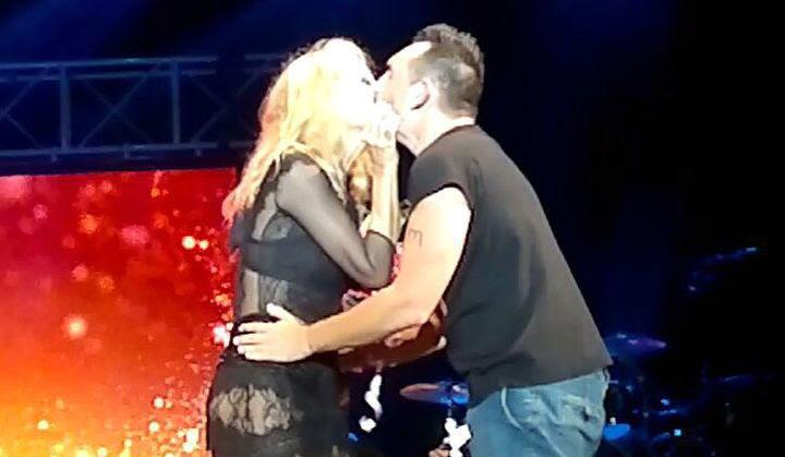 Marta Sánchez besa a Juan Diego González