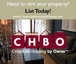 List your property with Corporate Housing by Owner (CHBO)