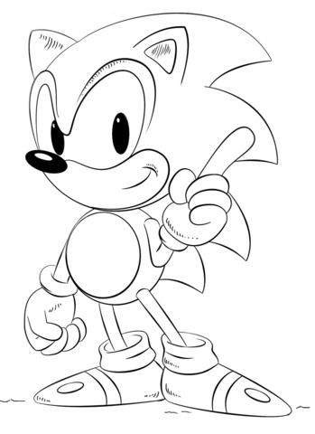 Dibujo De Sonic Para Colorear Dibujos Para Colorear Imprimir Gratis