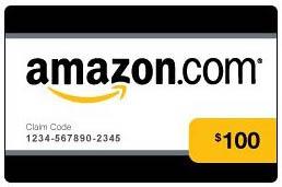 $100 Amazon.com Gift Certificate